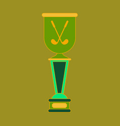 Icon in flat design golf cup vector