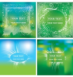 natural frames background vector image vector image
