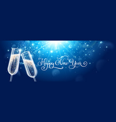 new years eve celebration background with vector image vector image