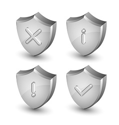 Notification shield icons vector