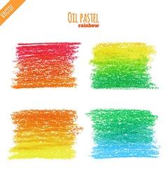 OilPastelRainbow vector image vector image