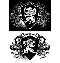ornamental heraldic shield vector image