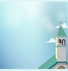 Picture of a roman-catholic church vector
