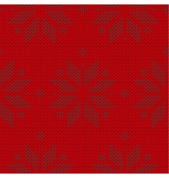 Red and black sweater winter seamless pattern vector