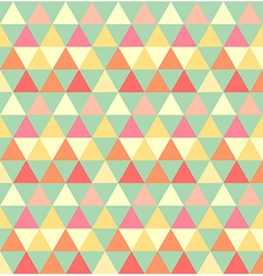Retro seamless triangle pattern vector image