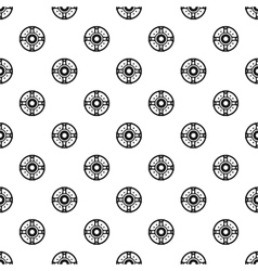 Round shield pattern simple style vector