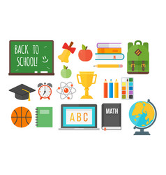 school supplies stationery equipment vector image