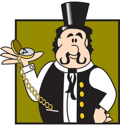 Showman logo vector image