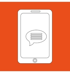 smartphone communication design vector image
