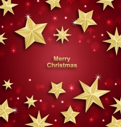 Starry Background for Merry Christmas and Happy vector image vector image