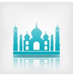 Taj mahal on white background vector