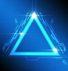 triangle frame modern design vector image vector image