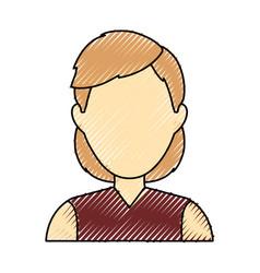Woman faceless profile vector