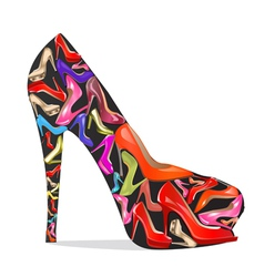 womens shoes with the texture of the shoes vector image
