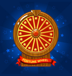 wooden fortune wheel for ui game vector image vector image