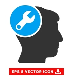 Head wrench repair eps icon vector