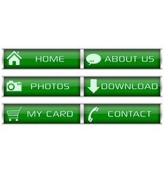 Green web icon set vector