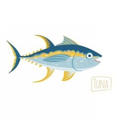 Tuna cartoon vector image