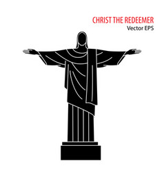 Flat icon of christ the redeemer rio de vector