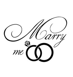 Marry me card vector