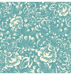 Khohloma style floral pattern vector