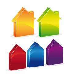 3D-houses vector image