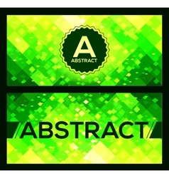 flyers templates with green abstract geometry vector image
