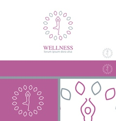 Yoga wellness health concept design element vector