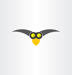 Funny western jackdaw bird cartoon icon vector