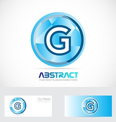 Letter g logo badge vector