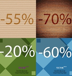 70 20 60 icon set of percent discount on abstract vector