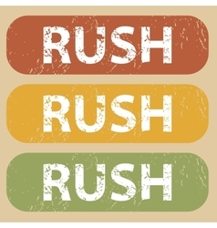 Vintage rush stamp set vector