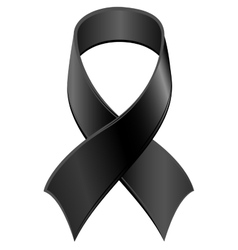 Black Ribbon symbol Day of Mourning vector image