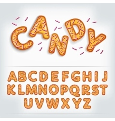 Funny glossy candy alphabet vector