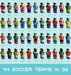 Soccer teams icons set vector