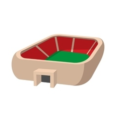 Sports stadium cartoon icon vector