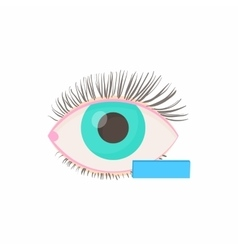 Myopia eyesight disorder icon cartoon style vector