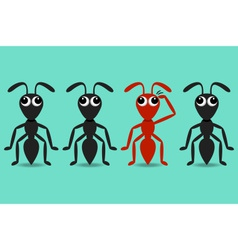 Ant cartoon characters vector