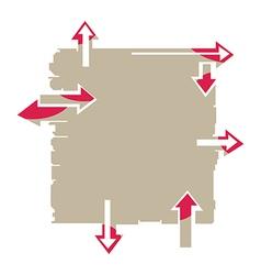 Arrow Board vector image vector image