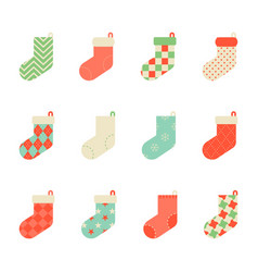 colorful sock collection icon for christmas vector image vector image