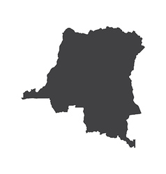 Democratic Republic of the Congo map silhouette vector image
