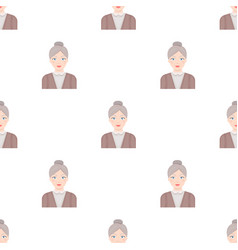 Elderly womanold age single icon in cartoon style vector
