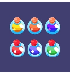 Flash game magic elixir set vector