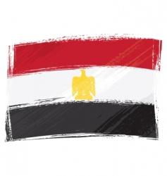 Grunge egypt flag vector