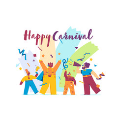happy carnival festive concept with funny vector image
