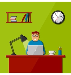 Man working in the office vector image