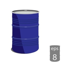 Metal barrel vector image