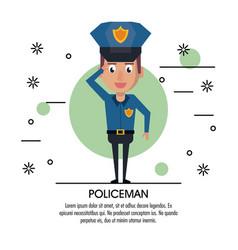 Policeman cartoon design vector