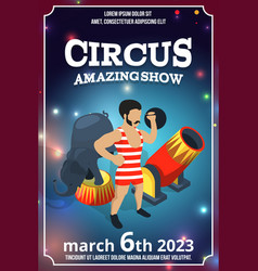 poster design of circus show magic carnival vector image