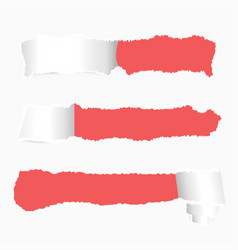 ripped paper banner design realistic torn paper vector image